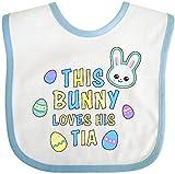 N/A Questo Coniglietto AMA la Sua Tia con la coniglietta e Il Bavaglino con Uova