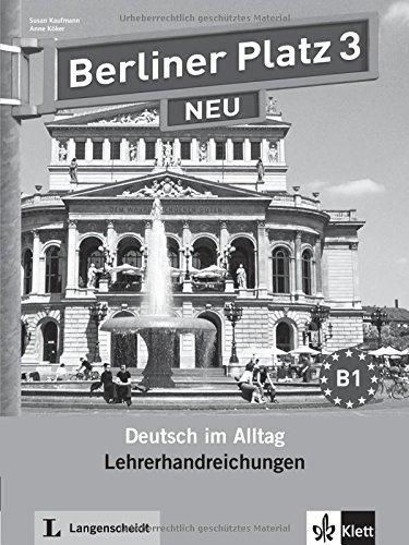 Berliner Platz Neu: Lehrerhandreichungen 3 by Susan Kaufmann (2012-02-01)