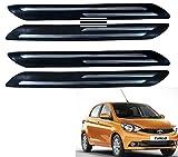 #5: Kozdiko Premium Quality Double Chrome Bumper Protector Set of 4 Pcs For Tata Tiago