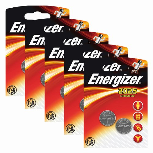 Energizer 637988SET Original Batterie Lithium CR 2025 (3 Volt, 5x 2-er Pack) -