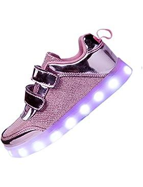 3b313c287b02c DoGeek Scarpe LED Bambini Bambina 7 Colore USB Carica Sneakers di Luci  Scarpe