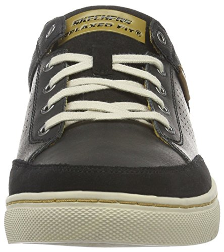 Skechers Herren Elvino Lemen Low-Top Schwarz (Blk)