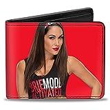 Buckle Down Men's Wallet Bella Vivid Pose2 + Brie Mode Red/Black Bi-Fold, Multi