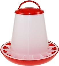 Beeztees 18140 Futtersilo mit Deckel aus Plastik, 3 kg, rot/weiß