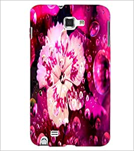 PrintDhaba Flower D-2822 Back Case Cover for SAMSUNG GALAXY NOTE 1 (Multi-Coloured)