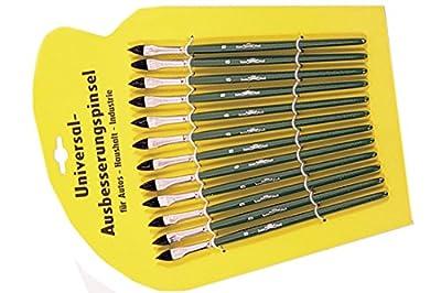 12 tlg. Auto Lackpinsel Set Rindshaar Lack Lackierpinsel Universal Maler Pinsel für alle lösemittelhaltigen und wasserverdünnbare Lacke und Farben von 1A Malerwerkzeuge auf TapetenShop
