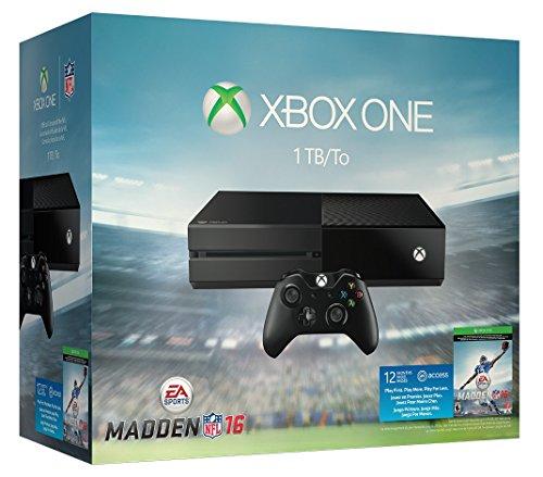 Microsoft Xbox One 1TB Konsole - EA Sports Madden NFL 16 Bundle