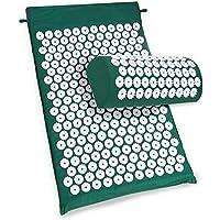 Akupressurmatratze und Kissen für Entspannung, Anti-Stress, Energie - grüne Farbe preisvergleich bei billige-tabletten.eu