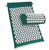 Akupressurmatratze und Kissen für Entspannung, Anti-Stress, Energie - grüne Farbe