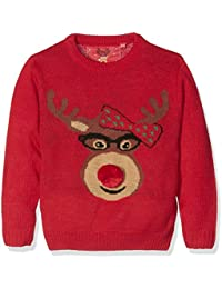 The Christmas Workshop Girl's Reindeer Head Long Sleeve Jumper