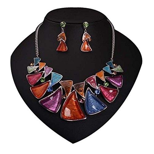 Cadeaux de vacances Bijoux Femmes Mode Sets de fleur boucles d'oreilles collier