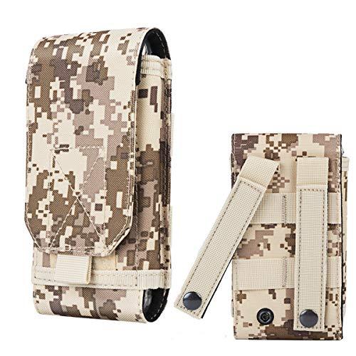 Mobile Camo (Shidan Tactical Molle Pouch, 1000D Nylon Camo Compact Handytasche Gürteltasche Smartphone)
