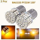 2x Ámbar 12V 50W LED 1156 BAU15S PY21W Luces de luces traseras de giro de carro Caliente