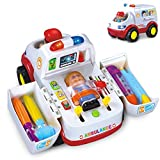 #3: GoAppuGo Doctor Set Kit Play Toys with Musical Learning Ambulance Car Toy - Doctors Set for Girls Boys Kids, Birthday gift for boys, girls, kids