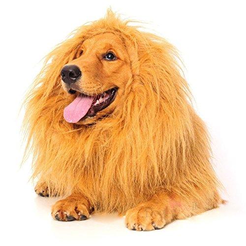 NNIUK Hund löwe mähne Einzigartige Lion Weiches Haar Kostüm Haustier Lustige Party Hüte Geeignet für Outdoor Wärme