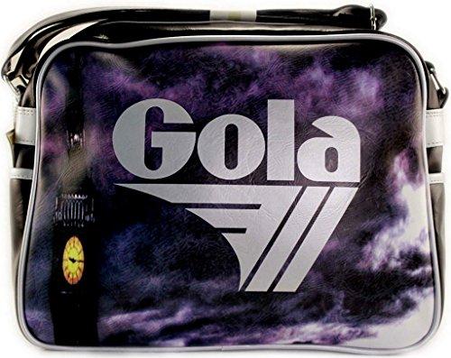 Gola Redford Big Ben CUB272, Borsa a Tracolla Unisex (BLACK / SILVER) BLACK / SILVER
