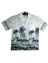 KY's| Chemise Hawaïenne D'Origine | Pour Hommes | S - 8XL | Manche Courte | Poche Avant | Hawaiian-Imprimer | Palm Trees | Plage | Vert