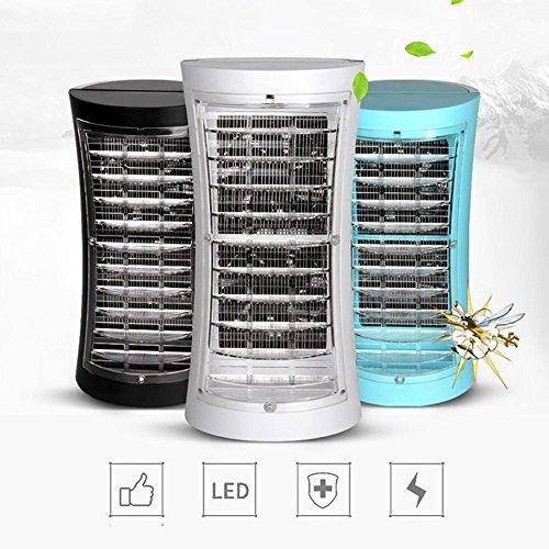 Neue Ära 2 Licht (AISHUAIGE Elektrischer Schock Umwelt geführtes Licht Haushalt Steckdose Elektronische Mückenschutz/Moskito-Lampe/Stromnetz Anti-Mücke Multifunktion, Blue)