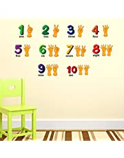 Luke and Lilly 1,2,3,4 Number Kids Wall Sticker(PVC Vinyl,60cm x110cm)