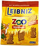Leibniz ZOO Waldtiere im 12er Pack — Mini-Butterkekse in der Großpackung — Karamell-Kekse
