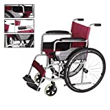 CHAIR Ampliar Asiento silla de ruedas móviles usadas para los inválidos; Ancianos - Manual plegable silla de ruedas con asiento blando; Neúmaticas cómodo
