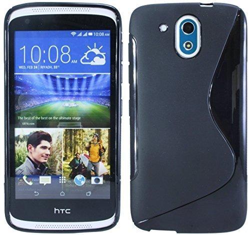 HTC Desire 526G Silikon Hülle Tasche Case Gummi Schutzhülle Zubehör in Schwarz @ Energmix