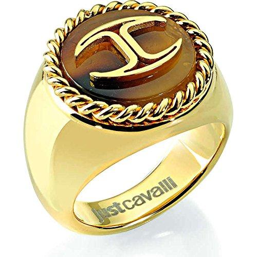 Just Cavalli Damen Ring Nature, Edelstahl, 60 (19.1), SCER06020