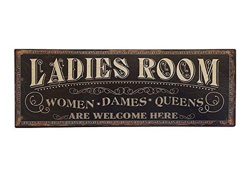 Blechschild LADIES ROOM Toilettenschild Vintage Nostalgie Dekoschild 36x13cm