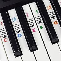 Calcomanías De Piano Para Teclas – Transparentes Y Removibles Con Ebook Gratuito De Piano