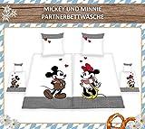 KK Herding Bettwäsche Disney's Mickey & Minnie/Partnerbettwäsche. 80 x 80 cm + 135 x 200 cm