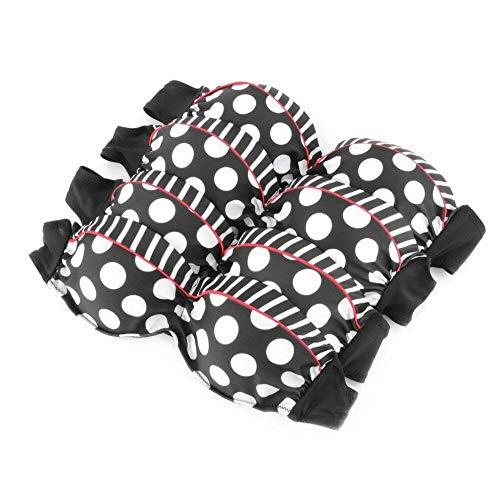 Booolavard® Vintage Push Up Bikini im Retro Rockabilly Style in schwarz/rot/weiß Größen S M L oder XL (L (38-40)) - 4