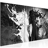 Bilder Milk und Coffee Wandbild 200 x 80 cm - 5 Teilig Vlies - Leinwand Bild XXL Format Wandbilder Wohnzimmer Wohnung Deko Kunstdrucke Schwarz Weiß - MADE IN GERMANY - Fertig zum Aufhängen 005055a