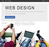 druck-shop24 Wunschmotiv: Website Design Homepage Layout Creativity Concept #122837615 - Bild als Foto-Poster - 3:2-60 x 40 cm/40 x 60 cm