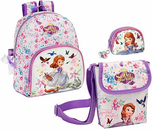 Sofia die Erste Rucksack, Mini Schultertasche und Geldbeutel Disney (Sofia Geldbörse Erste Die)