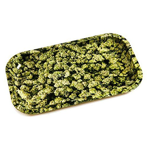 Plateau à rouler Rolling Tray Small Buds Design (270x160mm)