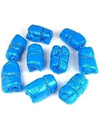 tankerstreet 100piezas de zapatos desechables cubre suelas antideslizante alfombra para suelo protectores de zapatos para el hogar Hospital escuela–azul