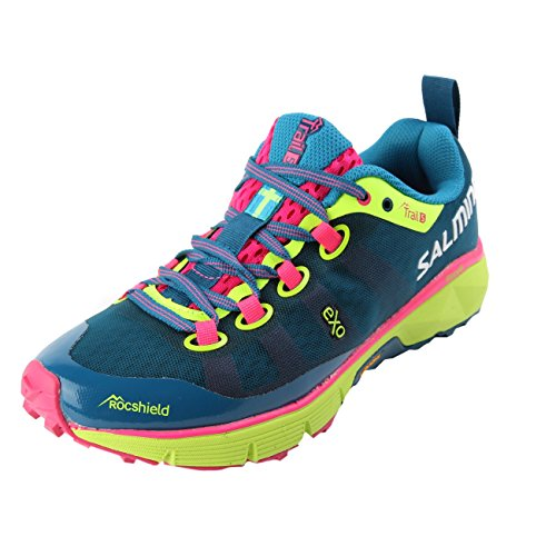 Salming Trail 5 Shoe Women Blue Fluo Yellow