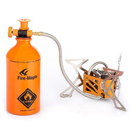 Fire-Maple FMS-F3 Stufa a Benzina Portabile per Sport Outdoor Campeggio Escursione Alpinismo Picnic, Fornello con base + Bottiglia benzina
