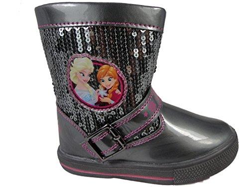 fel & Stiefeletten Silber Zinn (Black Sparkle Boots)
