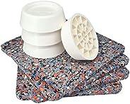 Tapis anti-vibrations pour machine à laver, universel, set de 4 amortisseurs anti-vibrations, coussinets anti-