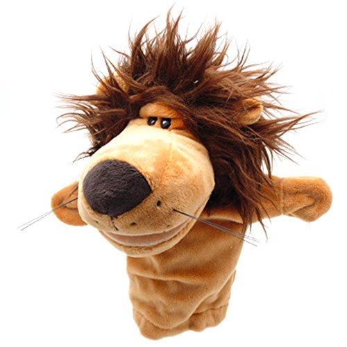andpuppe Plüsch Affe Krokodil Hippopotamus Lion Gefüllte Vorschule Spielzeug für Kinder Weihnachtsgeschenk (Löwe) (Tier-handpuppen)