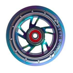 Team Dogz & Violet 100 mm 4 Bleu arc-en-ciel X-Gen Pro Roue de trottinette freestyle ABEC 9