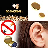 #5: 2PCS Magnet Auricular Quit Smoking Zerosmoke ACUPRESSURE Patch Not Cigarettes Health Therapy