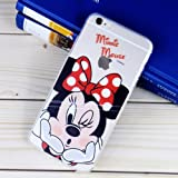 Disney Winnie Mickey Daisy & Donald Duck Clear TPU Soft Case For Apple iPhone 7 MINNIE MOUSE