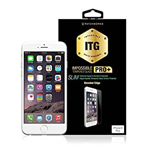 """Patchworks ITG Impossible Tempered Glass Screen Protector With Extreme Impact & Scratch Protection For iPhone 6 + Plus 5.5"""" Inch (Pro Plus SLIM)"""