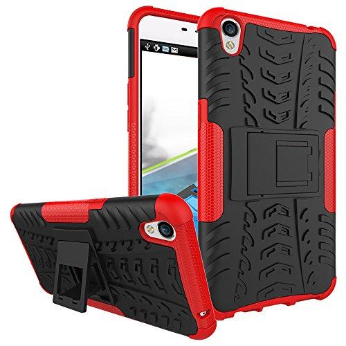 COVO® Festigkeit und Flexibilität Zurück Cover Style Smartphone Hülle mit Kickstand für OPPO F1 Plus (Rosen Rot)