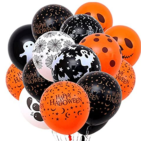 20 pièces 12 pouces Épaissé Thème d'Halloween Variétés Styles Ballons