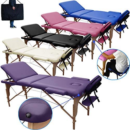 Beltom Table de Massage 3 Zones Classique Portables 180 x 56 cm. - ne pèse Que 13,3 kg. et avec...