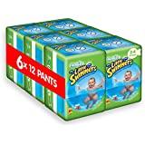 Huggies Little Swimmers Size 3-4 Years Designs May Vary - 6 Packs (Total 6 x 12 Pants)