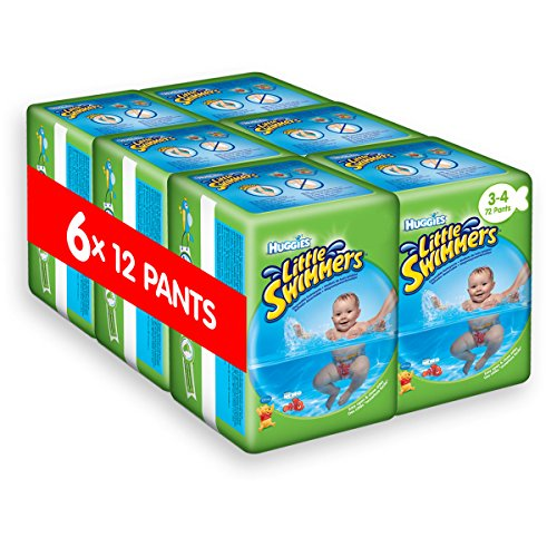 Huggies Little Swimmers Disposable Swim pannolini, confezione da 6, taglia 3 - 4